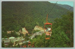 North Carolina~Indian Reservation~Cherokee Sky High Chair Lift~c1960 Postcard