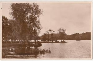 UK, Carlingwark Loch, Castle Douglas, Real Photograph unused Postcard RPPC