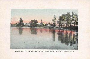 LPS89 Kingston New Hampshire Greenwood Lake Lodge Vintage Postcard