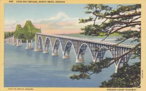 Coos Bay Bridge, Nrth Bend, Oregon, Coast HIghway, 30-40s