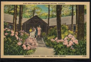 North Carolina colour PC Bath House Nantahala Nat Forest, N.C., unused