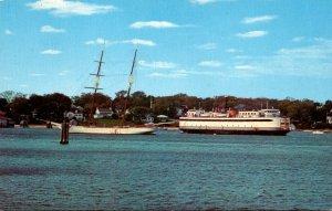 Massachusetts Martha's Vineyard Vineyard Haven Harbor Ferry Islander