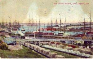SAN PEDRO HARBOR, LOS ANGELES, CA 1911
