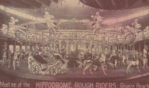 REVERE BEACH . Mass. , 00-10s ; Hippodrome Rough Riders Carrousel / Merry-Go-...