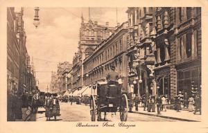 Buchanan Street, Glasgow, Scotland, early sepia postcard, unused