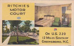 North Carolina Greensboro Ritchies Motor Court Albertype