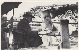 RP: Winston Churchil Painting , Camara de Lobos , Madeira , Portugal , 1950