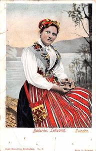 Sweden Old Vintage Antique Post Card Dalarne Leksand Unused