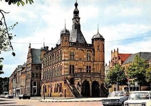 Netherlands Groeten uit Deventer De Waag Street Vintage Cars Voitures