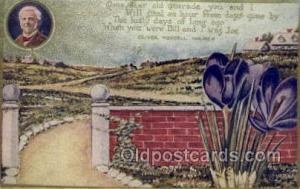 Oliver Wendell Holmes Famous People Old Vintage Antique Postcard Post Card  O...