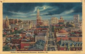 USA - Skyline Washington Monument Baltimore 01.67