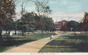 CHICAGO, Illinois, 1900-1910's; Scene In Washington Park