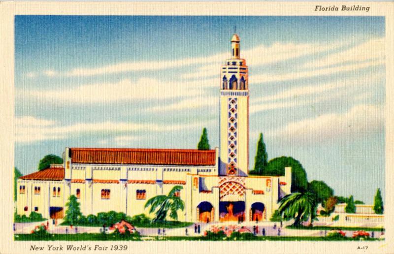NY - New York World's Fair, 1939. Florida Building