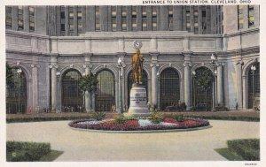 CLEVELAND, Ohio, 1910-1930s; Entrance To Union Station
