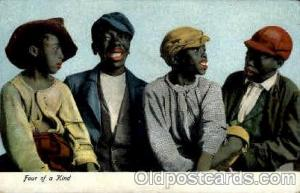 Four of a kind Black, Blacks Post Card Post Card  Four of a kind