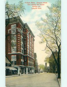 Unused Divided-Back BAXTER BUILDING & LAFAYETTE HOTEL Portland Maine ME u9941