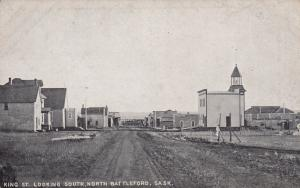 NORTH BATTLEFORD , Sask. , Canada , 1900-10s ; King Street , looking South