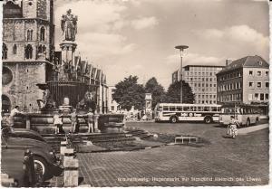 Braunschweig, Hagenmarkt mit Standbild Heinrich des Lowen RP