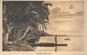 Coastal scene, Lau, Fiji,  Vintage Postcard, Unused