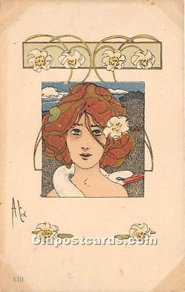 Alix VIII Artist Raphael Kirchner 1904 perfect corners, light yellowing on co...