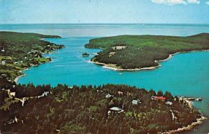 Isle Au Haut Thoroughfare Maine Aerial View Vintage Postcard JA4741441