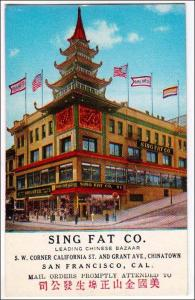 Sing Fat Co, San Francisco Cal