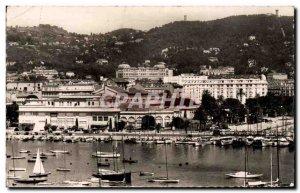 Cannes Old Postcard A port area casino