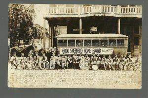 Allentown PENNSYLVANIA RPPC 1923 CRIPPLED ORPHANS BAND Orphanage OLDEST HORSE