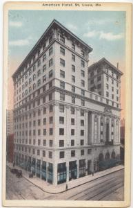 American Hotel, St. Louis, MO., early 1900s unused Postcard
