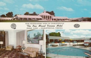 CHARLOTTESVILLE, Virginia, 1940-60s; 3-views, New Mount Vernon Motel, Pool
