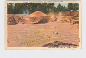VINTAGE POSTCARD NATIONAL STATE PARK YELLOWSTONE FOUNTAIN PAINT POT #2