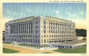 Kansas City, MO USA,  Post Office Postcard, Postoffice Post Card Old Vintage ...