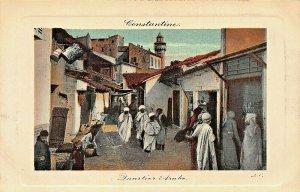 CONSTATINE ALGERIA AFRICA~QUARTIER ARABE~TINTED LL PHOTO POSTCARD