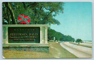 Postcard MS Beauvoir Last Home Of CSA President Jefferson Davis Confederacy AE8