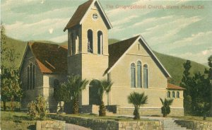 Bechtelheimer Congregational Church Sierra Madre California C-1910 Postcard 3302
