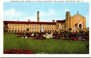 Wisconsin Burlington Monastery Rock Garden St Francis Monastery and College