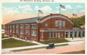 Portland, Maine, ME, Exposition Building, White Border Vintage Postcard g2180