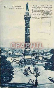 Old Postcard Brussels Column of Congress in 1859 by the architect Poelaert in...