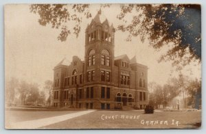 Garner Iowa~Hancock County Court House~Open Clock Tower~1908 RPPC