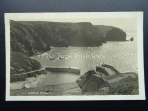 Cornwall MULLION COVE Harbour c1930's RP Postcard by Hawke of Helston