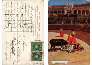 CPA Bullfighting - Caida de un Picador (775813)