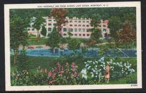 North Carolina postcard Assembly Inn, Lake Susan, Montreat, N.C. unused