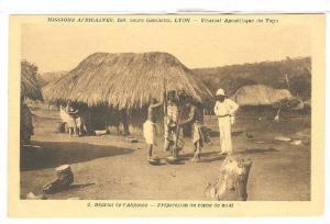 District de l'Akposso, Preparation du repas de midi, Togo, 00-10s