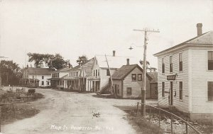 Princeton ME Main Street Storefronts Harness Shop RPPC Real Photo Postcard