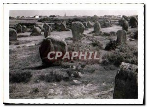 Modern Postcard Carnac alignments Menec including 1099 menhirs