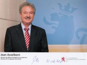 Jean Asselborn MP Luxembourg Minister For Foreign Affairs Hand Signed Photo