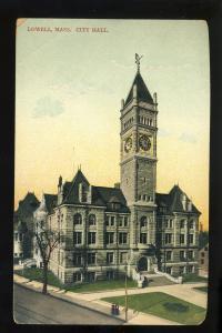 Lowell Massachusetts/MA/Mass Postcard, City Hall, 1920's?