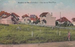 Bernieres Sur Mer Normandy Rive Plage Calvados Antique French Postcard
