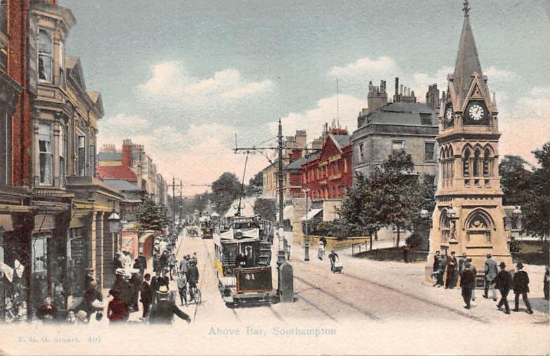 Southampton, Above Bar, tram, animated 1907