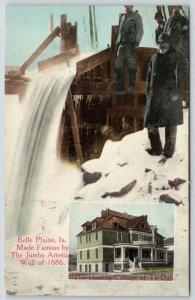 Belle Plaine~Jumbo Artesian Well~Herring Cottage~Prettiest Hotel in Iowa~1915